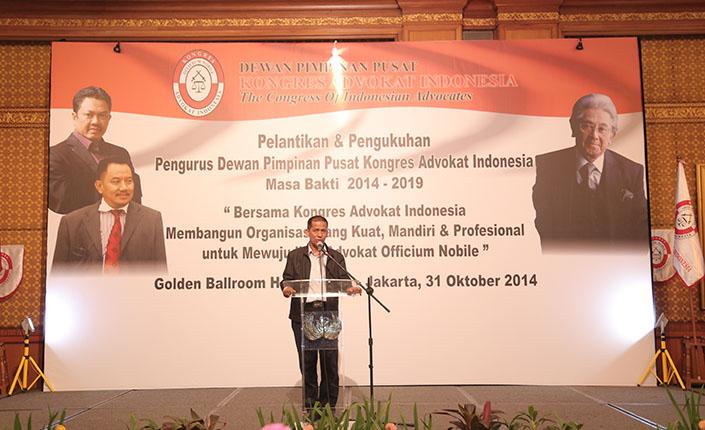 Saldi Isra di Kongres Advokat Indonesia