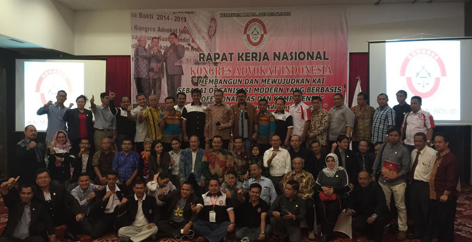 Rapat kerja nasional Visi Misi Kongres Advokat Indonesia