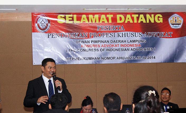 Pendidikan Profesi Khusus Advokat KAI DPD Lampung 1
