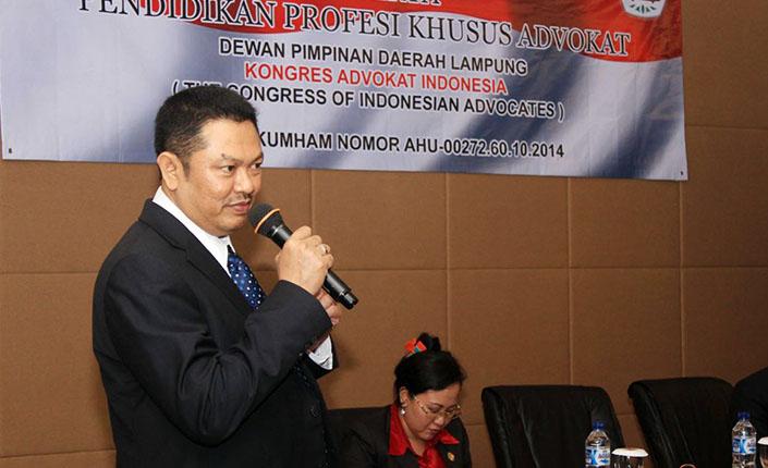 Pendidikan Profesi Khusus Advokat KAI DPD Lampung 3