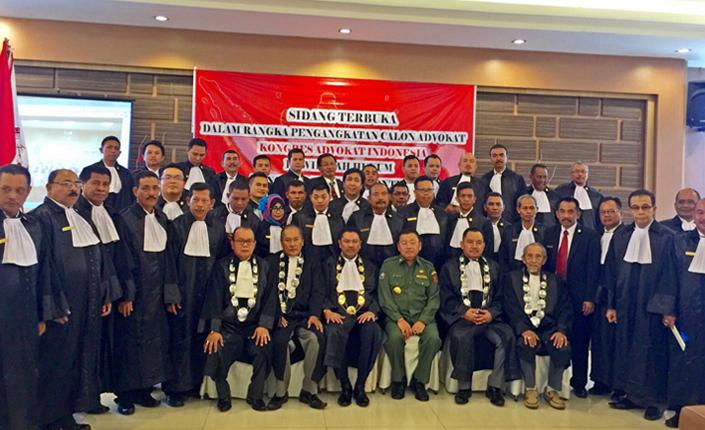 Pengangkatan Advokat KAI Kalimantan Barat dihadiri oleh Gubernur Kalimantan Barat