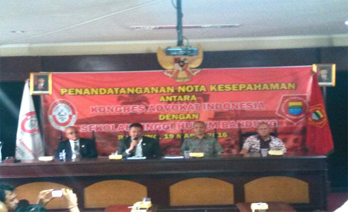Penandatangan Nota Kesepahaman KAI dengan Sekolah Tinggi Ilmu Hukum Bandung