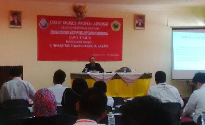 Pendidikan Khusus Profesi Advokat KAI DPD Jawa Timur 2