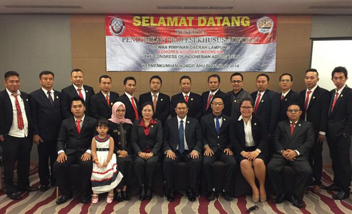 Pendidikan Khusus Profesi Advokat KAI Lampung | Bandar Lampung, 24 Maret 2016 1