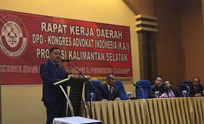 Sidang Terbuka Pengambilan Sumpah Advokat KAI Jawa Timur dan Rakerda KAI Kalimantan Selatan | Banjarmasin, 15 Maret 2016 2