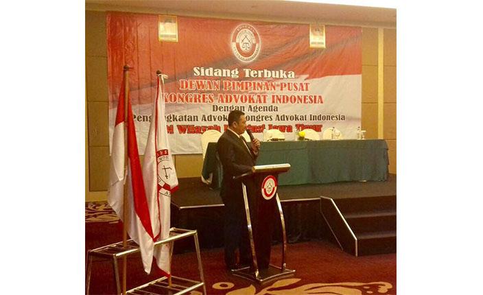 Pelantikan dan Pengukuhan Pengurus DPC KAI Surabaya dan Bojonegoro serta Pengangkatan Advokat KAI Jawa Timur. Hotel Pullman Surabaya, 23 April 2016 2