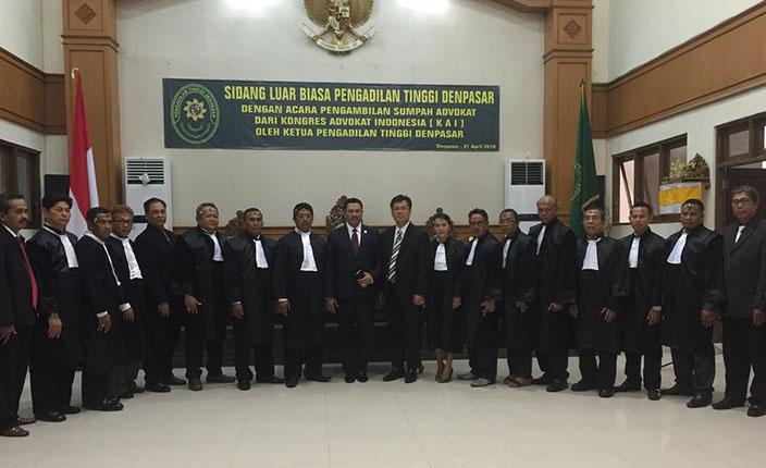 Penyumpahan Advokat KAI. Denpasar, 21 April 2016 4