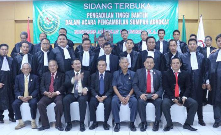 KAI Sumpah 26 Advokad di Pengadilan Tinggi Banten