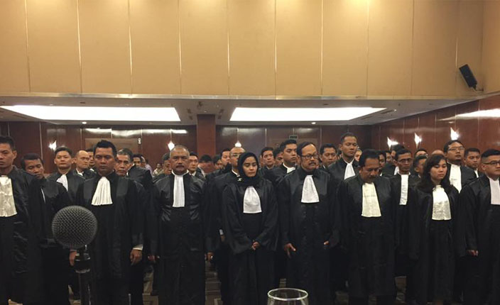 Sidang Terbuka DPP KAI dengan agenda Pengangkatan Advokat KAI Jawa Barat. Hotel Prama Grand Preanger Bandung 2