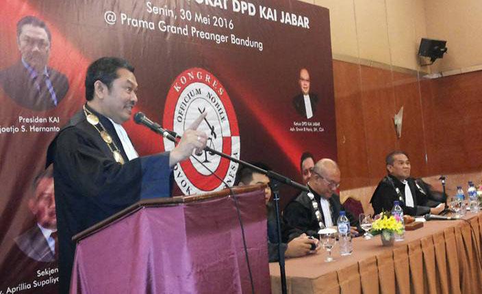 Advokat KAI Sidang Terbuka DPP KAI dengan agenda Pengangkatan Advokat KAI Jawa Barat. Hotel Prama Grand Preanger Bandung