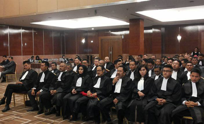 Sidang Terbuka DPP KAI dengan agenda Pengangkatan Advokat KAI Jawa Barat. Hotel Prama Grand Preanger Bandung 6