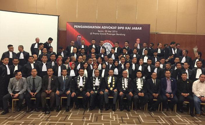 Sidang Terbuka DPP KAI dengan agenda Pengangkatan Advokat KAI Jawa Barat. Hotel Prama Grand Preanger Bandung
