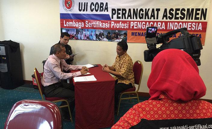 uji coba perangkat asesmen lembaga sertifikasi advokat indonesia 2