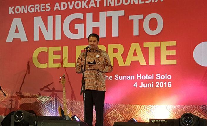 sertifikasi kompetensi advokat menurut presiden kongres advokat indonesia tjoetjoe s hernanto di rapimnas kongres advokat indonesia