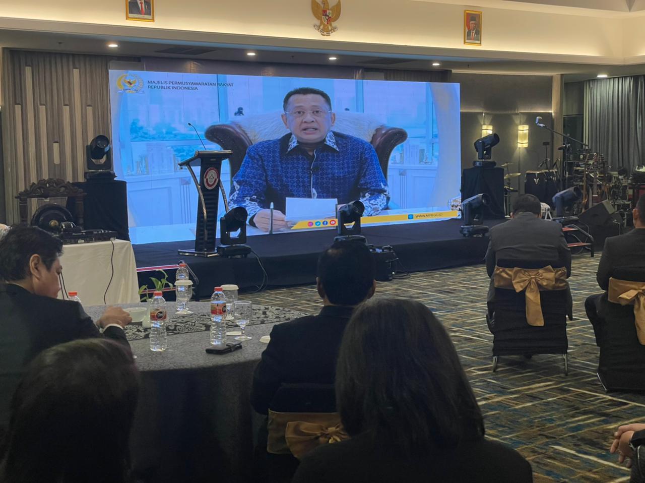 Ketua MPR RI Bambang Soesatyo di acara HUT Kongres Advokat Indonesia DPP KAI